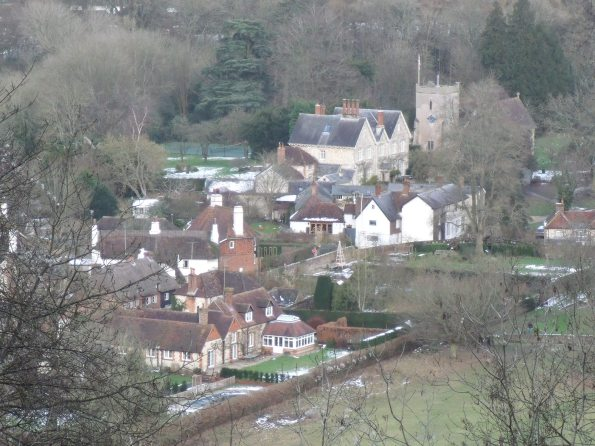St Mary's Church from Selborne Hanger