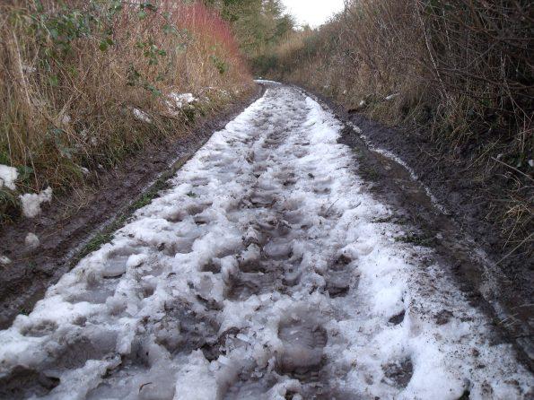 Clarty lanes near Selborne